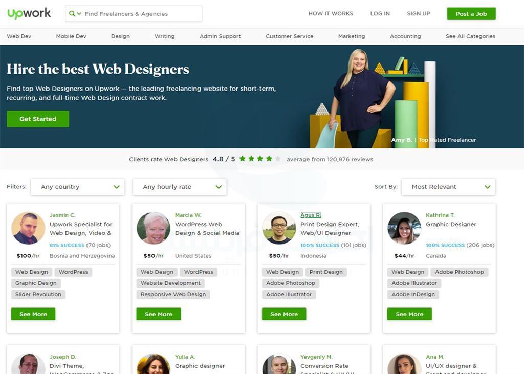 در این مطلب قصد داریم که کمی بیشتر در مورد شاخه طراحی وب در وبسایت Upwork صحبت کنیم و ببینیم که چه ...